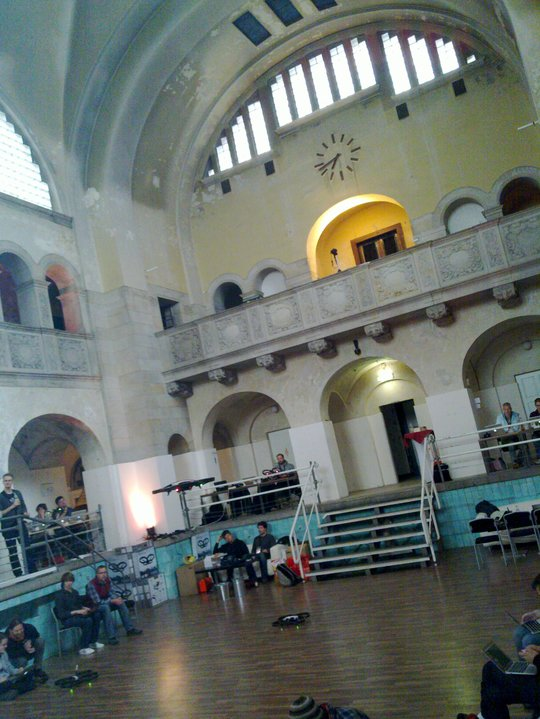 The great venue of nodecopter 2012 - a former public bath